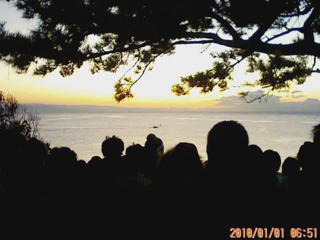 桂浜日の出前